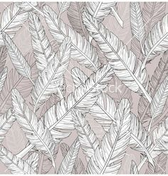 Abstract feathers pattern seamless pattern vector 773348 by lapesnape | Royalty Free Vector Art, Vector Graphics & Clipart | VectorStock®.com
