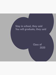 """Class of 2020"" Travel Mug by SCIIX | Redbubble Class Of 2020, Mug Designs, Travel Mug, Humor, Mugs, Humour, Tumblers, Funny Photos, Mug"