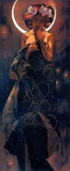 Alphonse Mucha - Night Sky