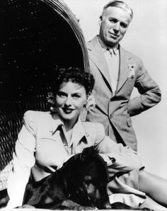 """Paulette Goddard and Charlie Chaplin - No one ever knew for sure if they were """"married"""" or not, I forget how many times they went off and """"got married"""" and returned with marriage certificates!"""