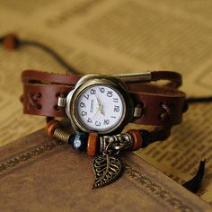 Hey, I found this really awesome Etsy listing at http://www.etsy.com/listing/155504770/leather-women-watch-bracelet-watch