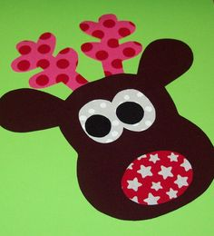 Fabric Applique TEMPLATE Pattern ONLY Zainey Reindeer....New. $2.00, via Etsy.