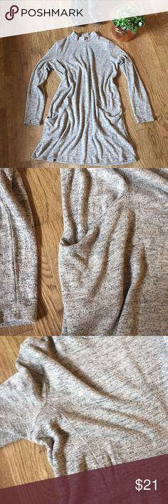 The softest most comfortable sweater dress Purchased at a boutique. Beautiful and so comfortable. Hits right below the knee. Great with a pair of leggings or alone an some boots. Stretchy and soft. Has pockets! Very light wear. In excellent condition. lazy sundays Dresses Long Sleeve
