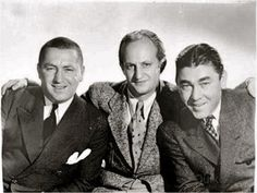 The three stooges pose for a photo while not in character. One of my fav comedy shows along with the little rascals The Three Stooges, The Stooges, The Comedian, Classic Tv, Classic Movies, Abbott And Costello, Classic Comedies, Laurel And Hardy, Old Tv Shows