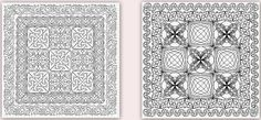 Another Pinterest inspired creation.  Inspiration on the left.  What I ended up with on the right.  I know it's not exactly the same but I like the finished product.  Wanted to try to create that first border using two rows of p2p triangles.  Fun fun fun.  Good thing I'm on vacation and have loads of time to do this.  Because doing layouts on PS Sim while sitting on my butt is so not happening when I get home.  ;)