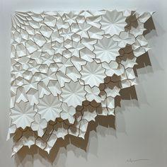 Ara 205 by Matt Shlian Paper Wall Art, Diy Wall Art, Origami Paper Art, Paper Crafts, 3d Paper, Geometric Graphic Design, Paper Art Design, Paper Installation, Islamic Patterns