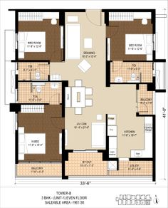Floor plans of 3bhk 4bhk and 5bhk apartments in purvanchal royal 3bhk 1961 sft malvernweather Images