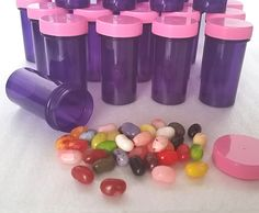 Doc McStuffin party jars for filling with candy and other tiny treats!