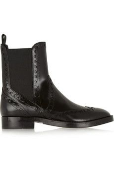 Alexander Wang Nicole perforated leather Chelsea boots | THE OUTNET