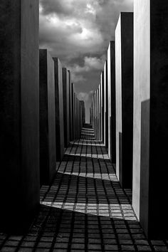 Photo by Brian Jadg Mauritzen Holocaust Memorial . US architect Peter Eisenman's controversial design in Berlin as a fitting tribute to the Jews that died before and during World War II as part of Hitler's plan to exterminate the jews.