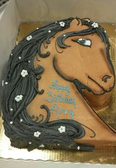 Cut-out horse head cake by wendy berghuis