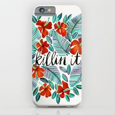 Killin' It – Tropical Red & Green iPhone & iPod Case