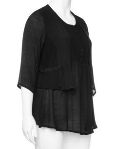 Tapered shirt with 2-in-1 look in Black designed by Choise to find in Category Shirts at navabi.de