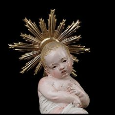 Infant Jesus Attributed to Giuseppe Sanmartino (Italian, second half century Polychromed terracotta, charred wood and rope, silver-gilt halo Religious Images, Religious Art, Giuseppe Sanmartino, Angel Makeup, Christian Christmas, Antique Christmas, Italian Artist, Baby Jesus, Mother Mary