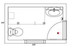 Design a Bathroom Floor Plan with Walk in Shower