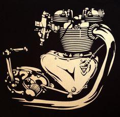 $19   Triumph motorcycle T-Shirt vintage engine Bonneville by nealart