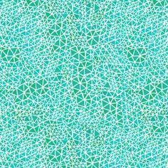 Triangles: Turquoise - Geninne D. Zlatkis - Alegria - Cloud 9 - Quilting Fabric