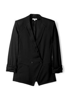 Helmut Lang  Black Double Breasted Smoking Jacket