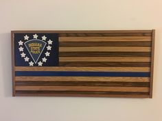 Made this for District 22 of the Indiana State Police, Blue lives matter