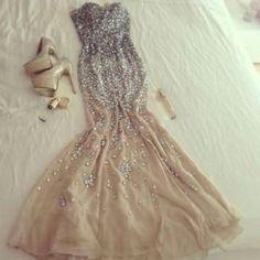 Sparkly Neutral Dress