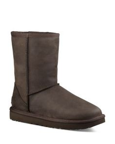 320b42a42ca370 UGG® Classic Short Leather and Sheepskin Booties
