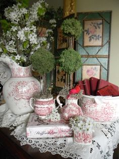 Nancy's Daily Dish: The Poetry Game of 1898 & Red Transferware Vignette