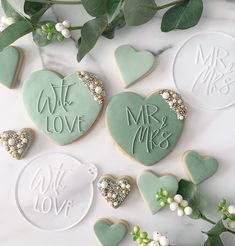 Wedding Shower Cookies, Cookie Wedding Favors, Wedding Desserts, Decorated Wedding Cookies, Cookie Favors, Sugar Cookie Royal Icing, Sugar Cookies, Engagement Cookies, Anniversary Cookies