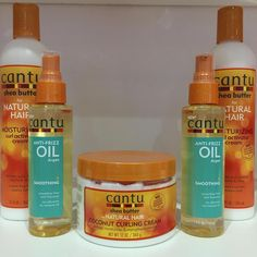 The humidity is at an all time high. Make sure you're keeping your hair moisturized with Cantu's Curl Activator Cream, Coconut Curling Cream, or Anti-frizz oil! What's your favorite Cantu product? Natural Hair Cream, Natural Curls, Cantu Products, Hair Products, Afro Curls, Afro Hair, Cantu Beauty, Black Curly Hair, Wavy Hair