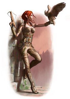Elf Rogue, Dean Spencer on ArtStation at https://www.artstation.com/artwork/8RYww