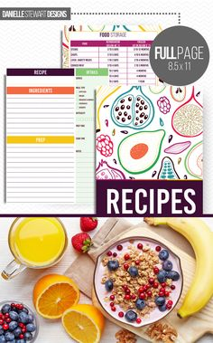 Recipe Binder Printable Time to finally get all those recipes organized. The Recipe Binder makes it easy to organize all of your favorite recipes.