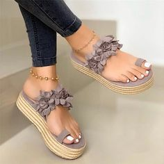Open Toe Sandals, Wedge Sandals, Wedge Shoes, Leather Sandals, Summer Sandals, Flat Shoes, Trendy Sandals, Leopard Sandals, Sandals Platform