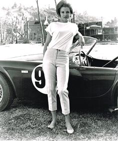 Vintage Cars Classic Stunning inch Black and White Poster Print of Angie Dickinson as Sheila Farr in The Killers. Ac Cobra, Grid Girls, Young Actresses, Actors & Actresses, Vintage Racing, Vintage Cars, Convertible, Angie Dickinson, Carroll Shelby