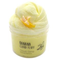 Scent: Banana and Apple Pie. Fruit Slime, Slimy Slime, Slime Names, Slime Pictures, Etsy Slime, Cool Slime Recipes, Slime For Kids, Slime For Sale, Slime And Squishy