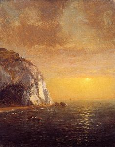 'Rowing at Sunset', Oil On Canvas by Jasper Francis Cropsey (1823-1900, United States)