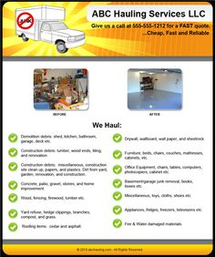 Starting a Junk Removal Company – Sample Business Plan Template