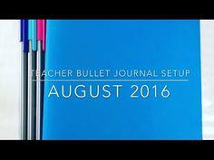 My Teacher Bullet Journal Setup  This is a helpful bullet journal video even if you are not a teacher.