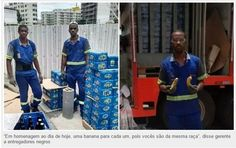 PROF. FÁBIO MADRUGA: Entregadores receberam bananas pelo Dia da Consciê...