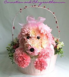 Pink floral puppy my little girl would love this.