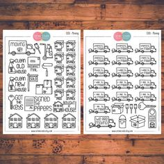 Moving Planner Stickers Doodle Planner Stickers Moving Day