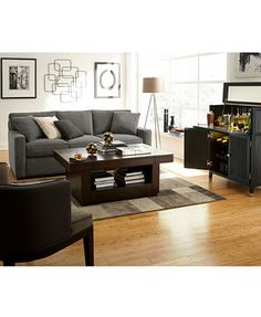 radley 3piece fabric chaise sectional sofa macyscom - Radley Sectional