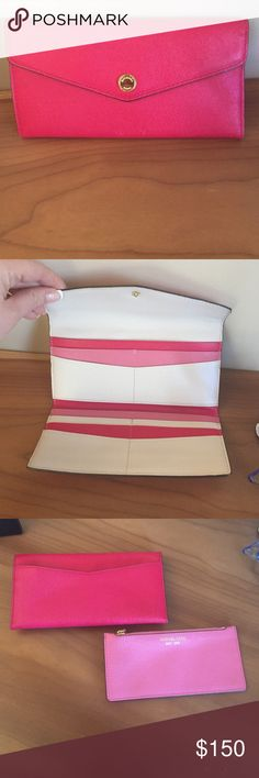 Pink wallet with coin purse Michael Kors pink leather wallet with coin purse 👛 Michael Kors Bags Wallets