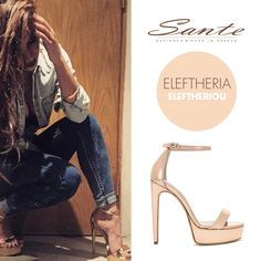 Shop our range of shoes today on the official SANTE women's shoes website. Discover the latest collection of SANTE - Made in Greece Shoe Shop, Celebrity Style, High Heels, Boutique, Sandals, My Style, Celebrities, How To Make, Shopping