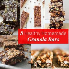 8 Healthy Homemade Granola Bars