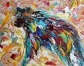 Abstract Bear fine art by Karen