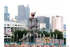 The Olympic cauldron as seen from Olympic Stadium (Sheila S. Hula)
