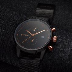 Tayroc TMX098 Black & Rose Gold