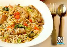 Lunch: Chinese Rice - A healthy option for your Yes You Can! Diet Plan lunch