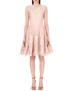 Maje | Pink Reason Embroidered Dress | Lyst