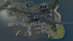 Aerial Shot of the port in my current build. Santa Palma.