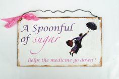 Dekoschild  Mary Poppins von Un-Art-Tick auf DaWanda.com